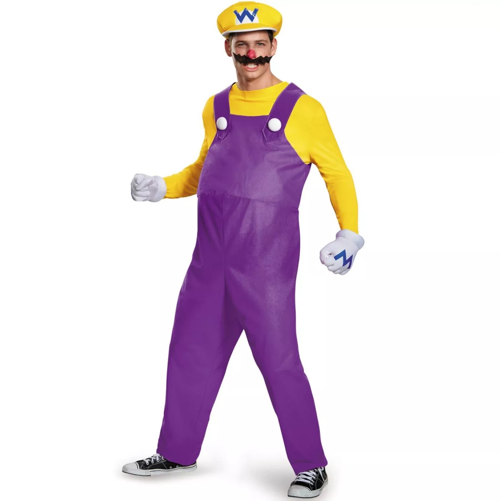 Super Mario Wario Deluxe Adult Costume