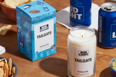 Homesick Candles Bud Light Tailgate Candle