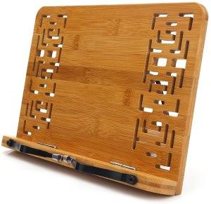 cookbook stands wishacc wooden